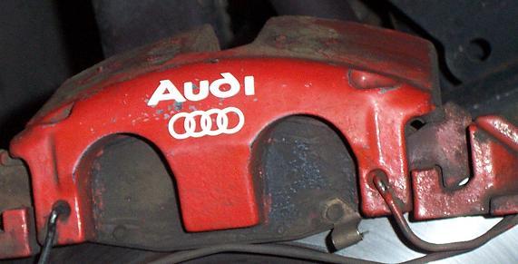 Audi Bremssattel Aufkleber Fahrwerk Bremse Lenkung